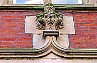 coat of arms is still visible above Waterstone's bookshop in Babington Lane.