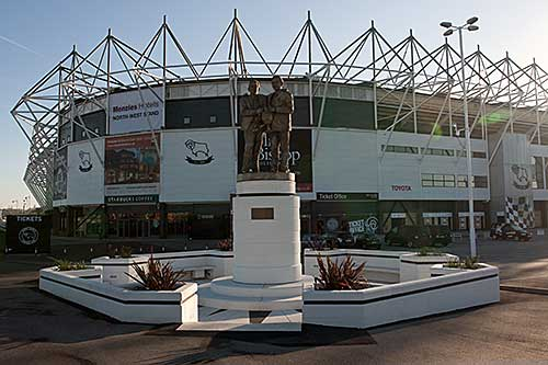 Pride Park football stadium in Derby