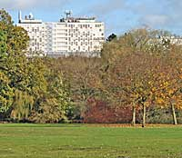 Derby University from markeaton park