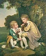 Joseph and Thomas Pickford as children by Joseph Wright
